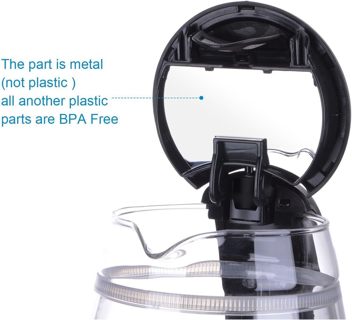 bouilloire electrique verre,KINDEN Bouilloire en thé Avec Double Verre Sans BPA température Thermostat réglable   1,7 litres   2200W   éclairage à LED