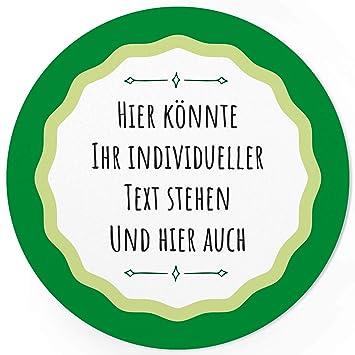 24 Individuelle Runde Etiketten Selber Gestalten Grün Schlicht Personalisierte Aufkleber Für Hochzeit Geburt Gläser Taufe Konfirmation