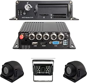 New 1080P MDVR Blackbox 3-4 Cam DVR System with GPS & More! (with 4 Cameras / 256GB Included / 9 Inch LCD)