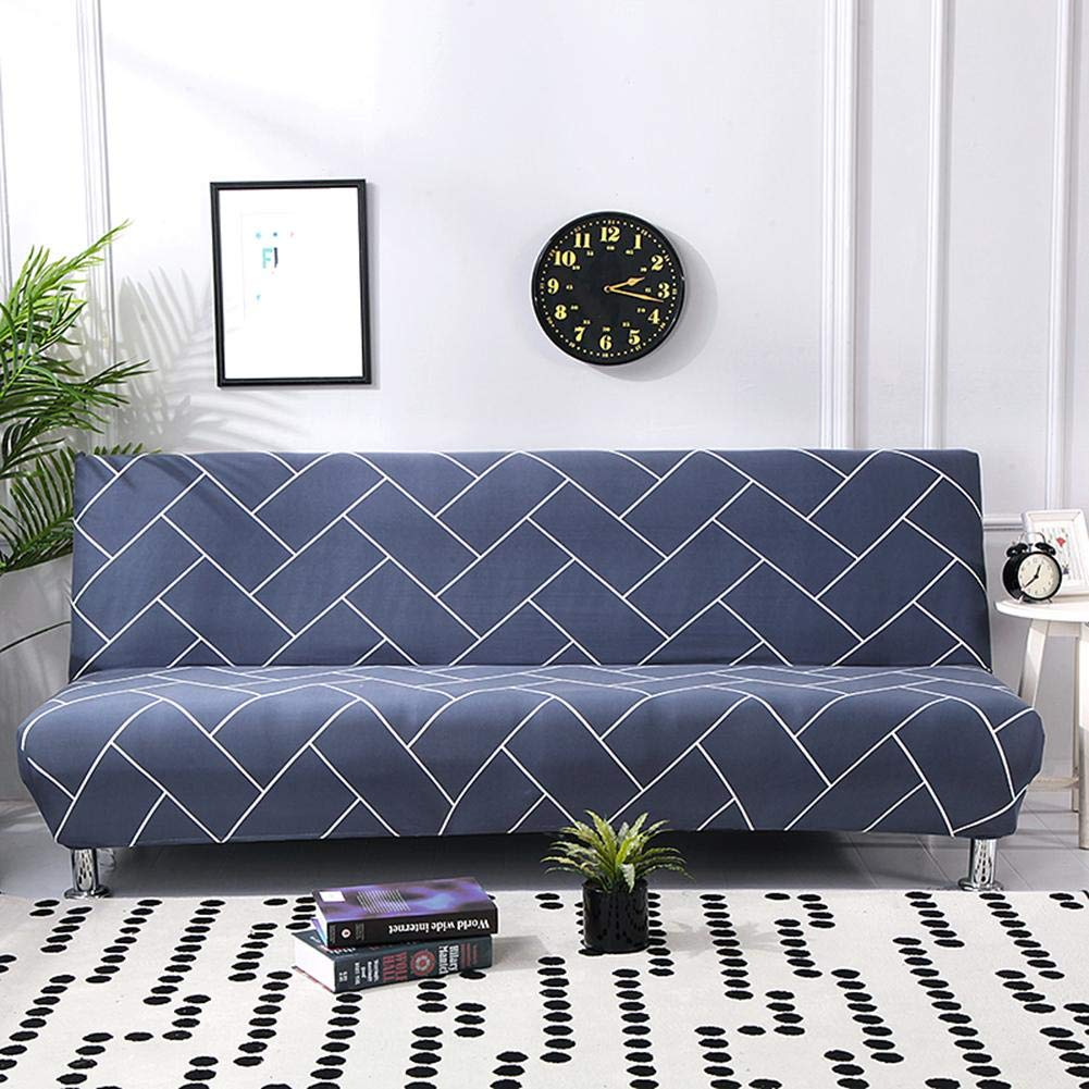 Armless Sofa Bed Futon Slipcover Stretch Full Folding Couch Cover Protector