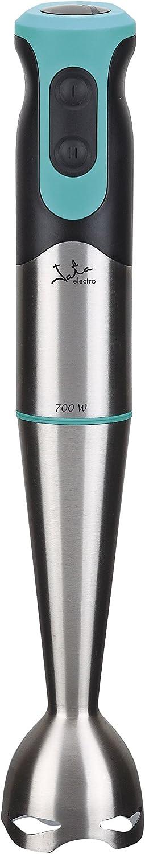 Jata BT160 BATIDORA VARILLA, 700 W, 0 Decibelios, acero inoxidable, plástico, 2 Velocidades, plateado