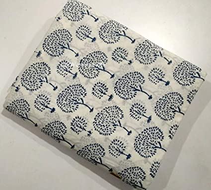 Decorative Craft Fabric Supply Sewing Hand Block Print Cotton Voile By 1 Metre