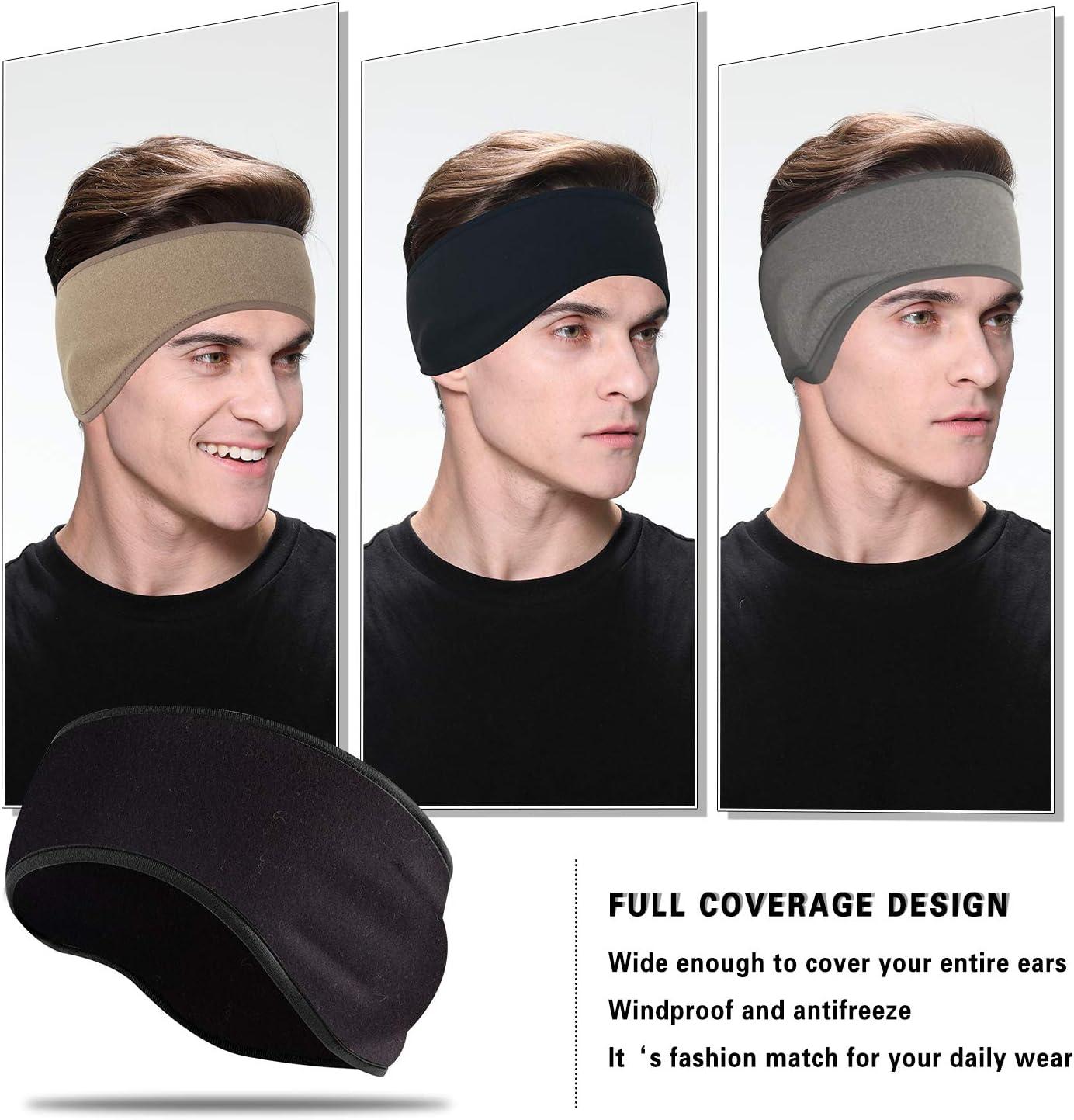 Women/&Men Daily Wear Cycing Winter Ear Warmer Headband for Running Racing Working Out EasYoung Ear Warmers Headbands for Winter Skiing 3//2 Pack Cold Weather Keep Warm Ear Headbands