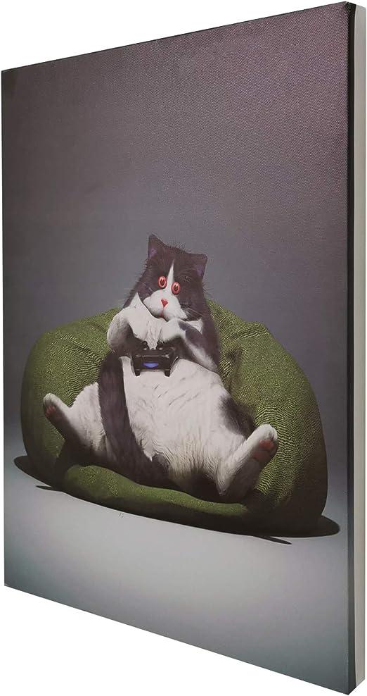 CUTE SIAMESE KITTEN CAT PLAYING STANDING Canvas art Prints