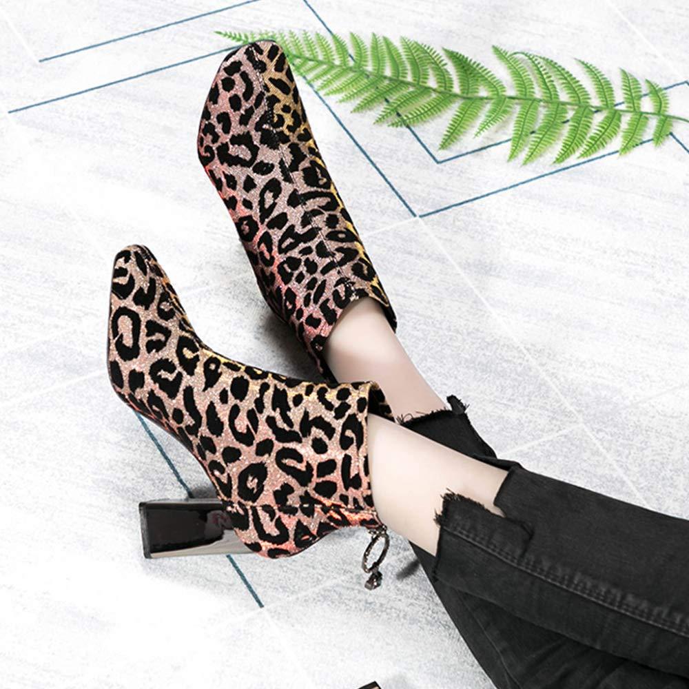 PLNXDM Damen Chelsea-Stiefel Stiefel In Stiefel Wildleder-Optik Mit Reißverschluss Leopardenmuster Mode Stiefel In 0d6629