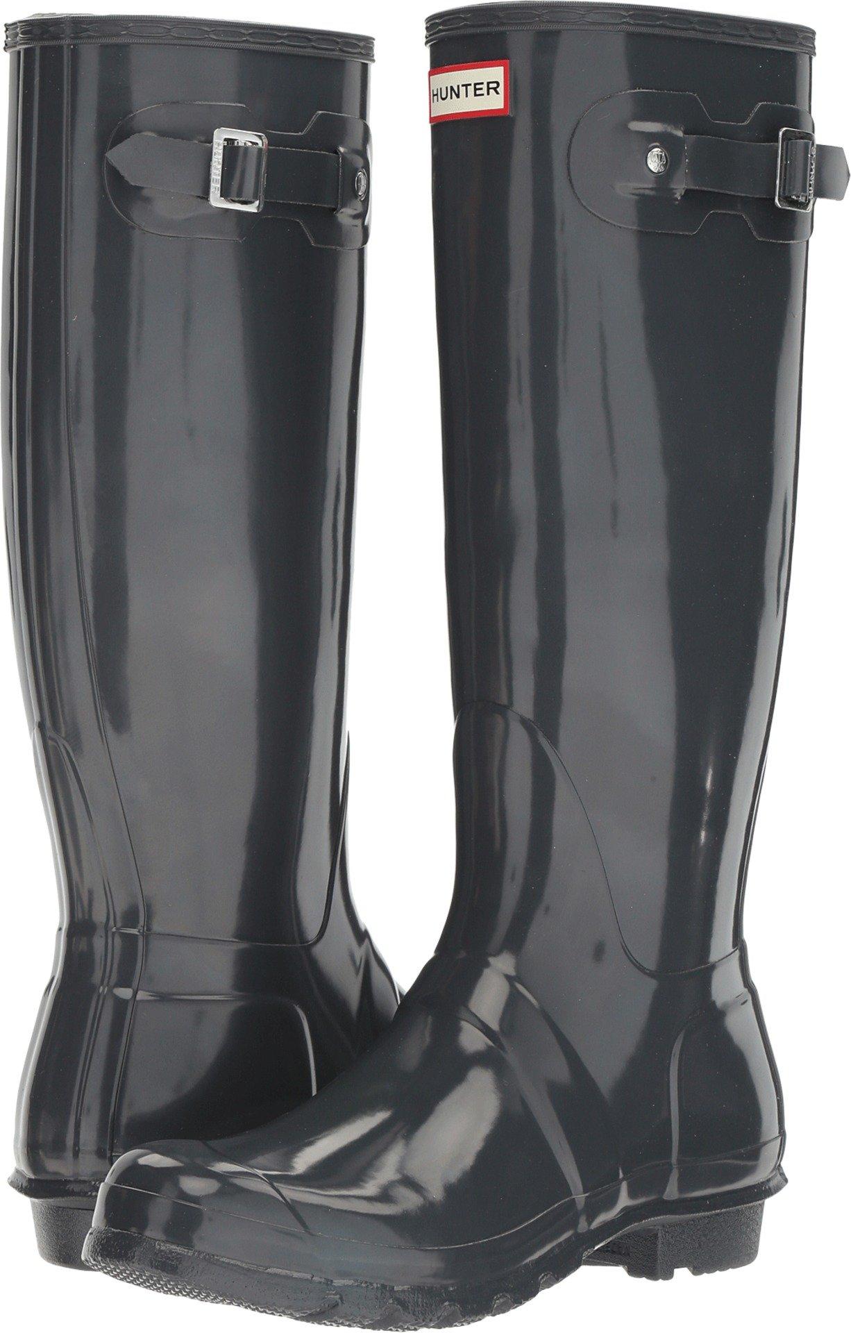 Hunters Boots Original Tall Gloss Rain Boot - Women's Dark Slate, 8.0