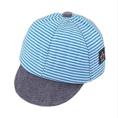 a056e3c86c1e0 Unisex Kid Hats Girl Boy Cotton Stripe Cartoon Fashion Summer Casual Caps  Newborn Baby Sun Baseball