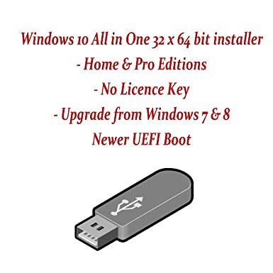 Windows 10 home professional both 32 64 bit latest build in a bootable  recovery usb flash drive stick