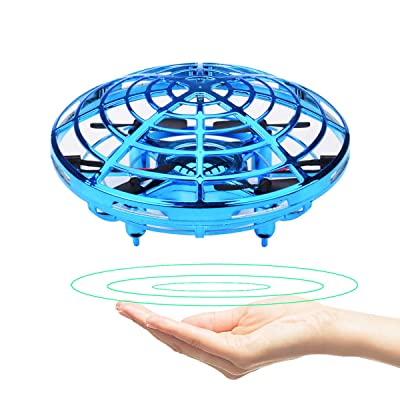 GuangTouL Mini Drone for Kids Adults, Hand Controlled Flying Ball, Quadcopter Interactive Infrared Induction Flying Toys, 360° Rotation Free Hover Helicopter Beginner Drones Flying Toys: Toys & Games