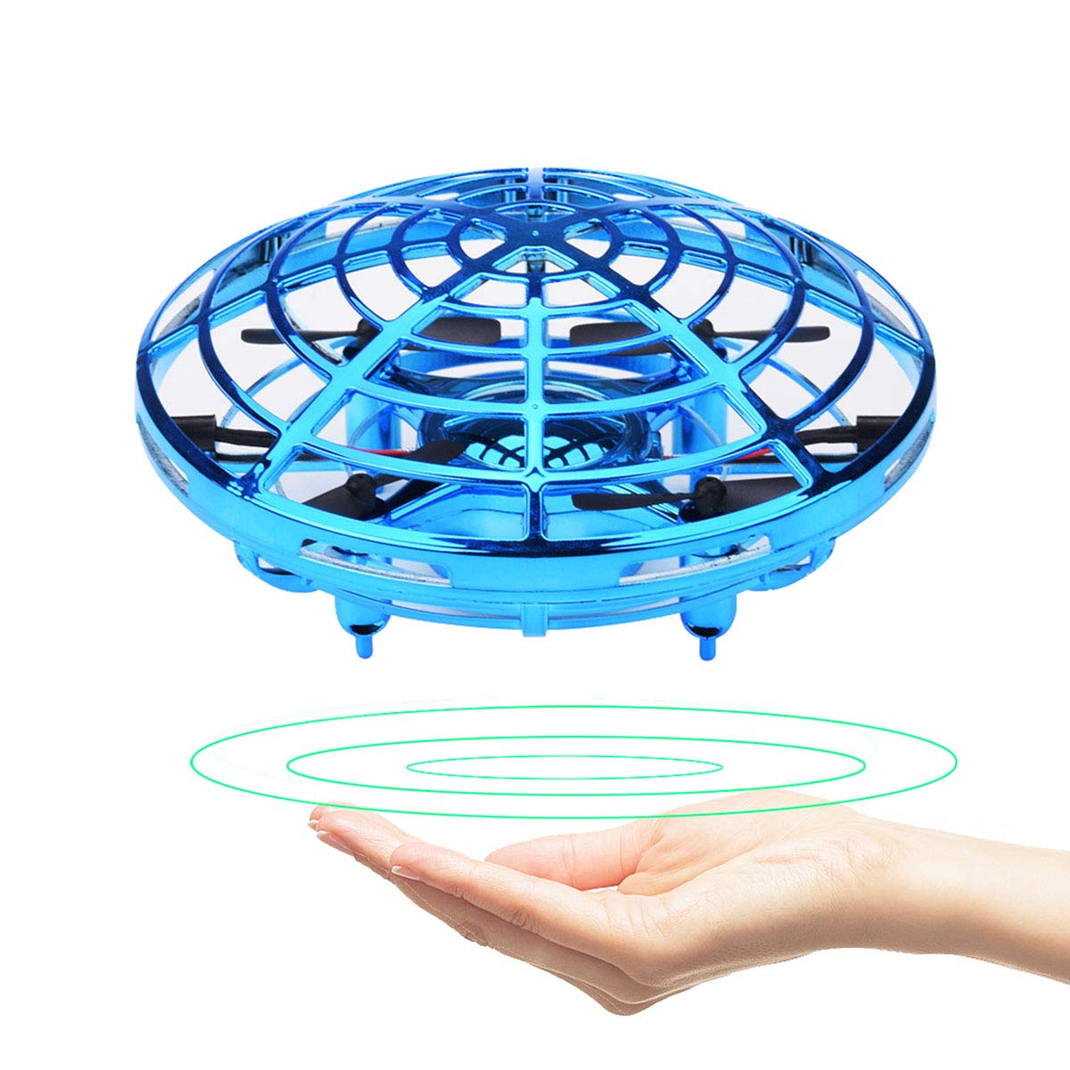 GuangTouL Mini Drone for Kids Adults, Hand Controlled Flying Ball, Quadcopter Interactive Infrared Induction Flying Toys, 360° Rotation Free Hover Helicopter Beginner Drones Flying Toys by GuangTouL