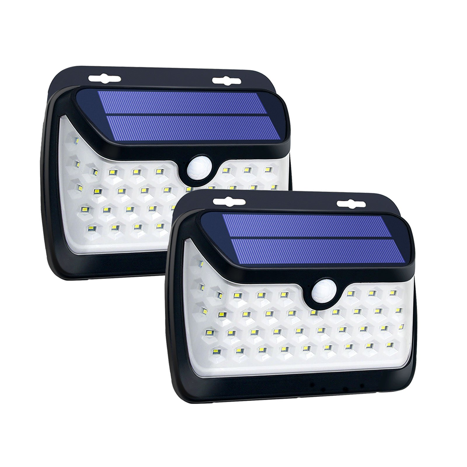 Solar Lights Outdoor, 42 LED Solar Lighting with IP65 Waterproof Wireless Solar Motion Sensor Lights to Auto On/Off for Wall Front Door Deck Step Wall Yard Fence Patio Garden Driveway (42 LED +2)