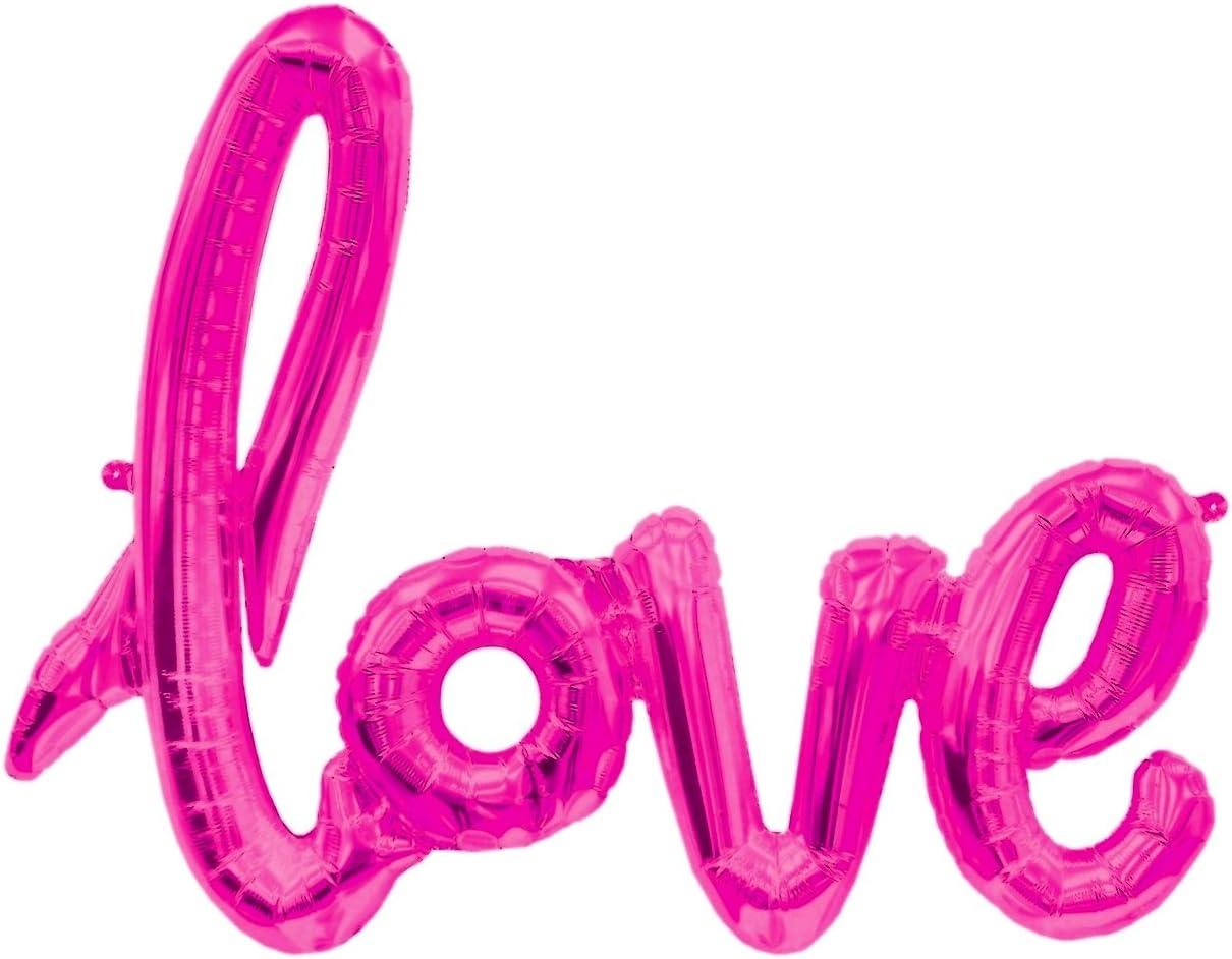 Love Folienballon Fuchsia