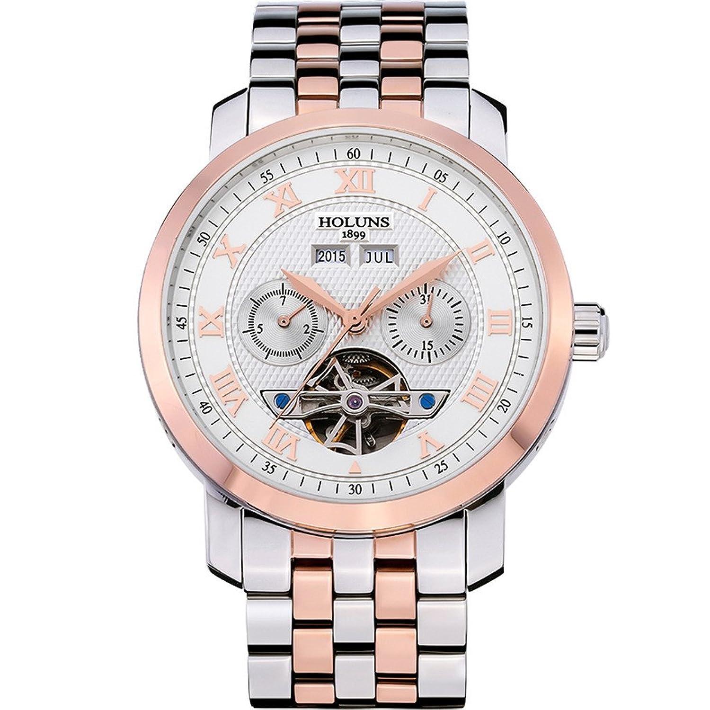 Holuns Herren Luxus Elegant automatische mechanische Armbanduhr