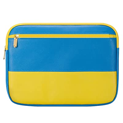 "13 Inch Laptop Sleeve 13.3 Inch for Macbook Air/Pro/Retina Display 12.9 Inch iPad Case Bag 13"" Laptop case compatible with Apple/Samsung/HP/Asus/Acer/Dell etc Assorted color Darkblue&yellow"