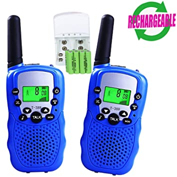 Amazon.com: Walkie Talkies para niños, 22 canales, 3 balas ...