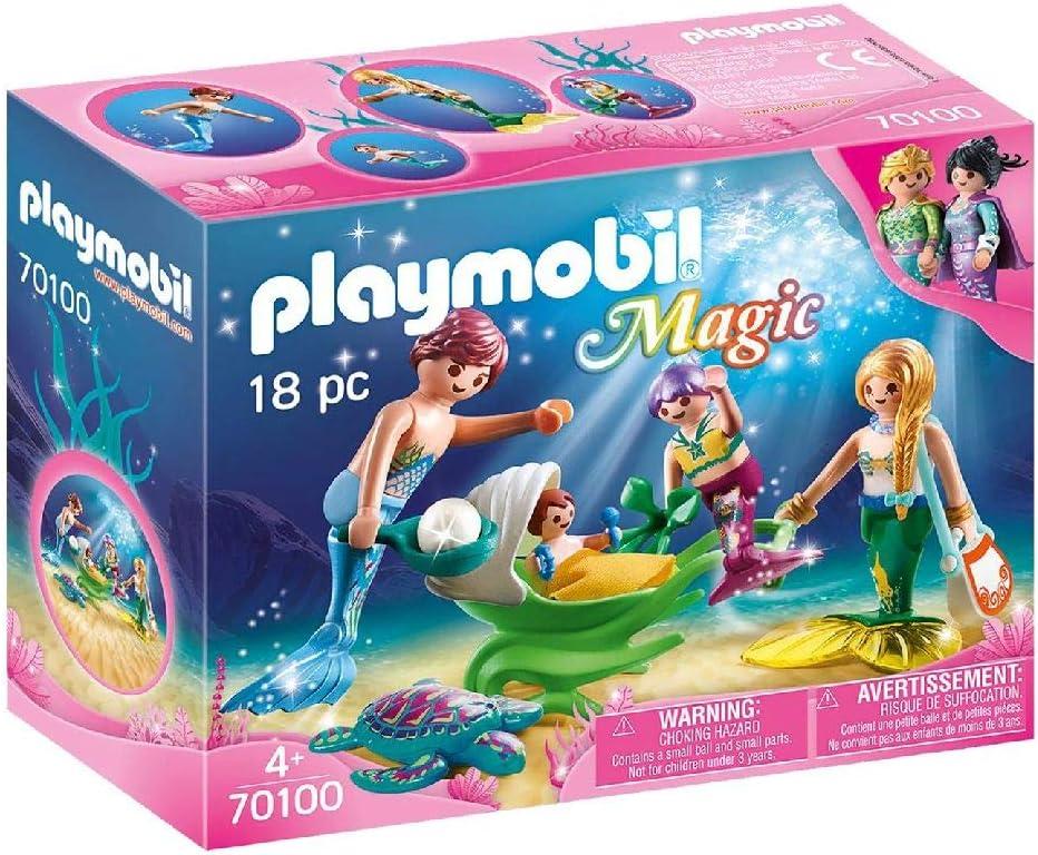 PLAYMOBIL 70100 Magic Family with Shell Pram