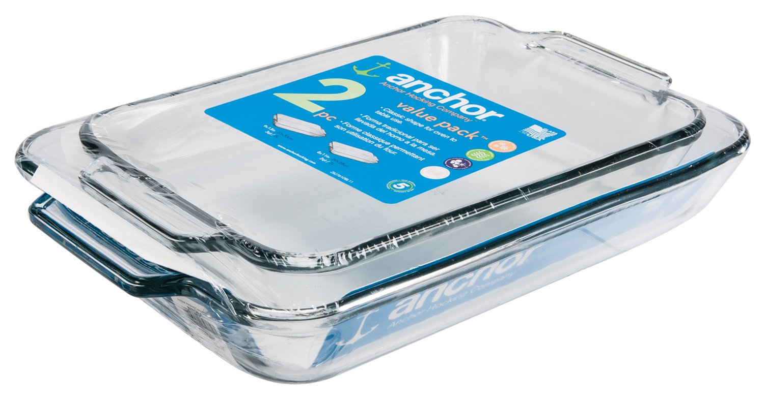 Anchor Hocking Oven Basics 2-Piece Baking Dish Value Pack by Anchor Hocking