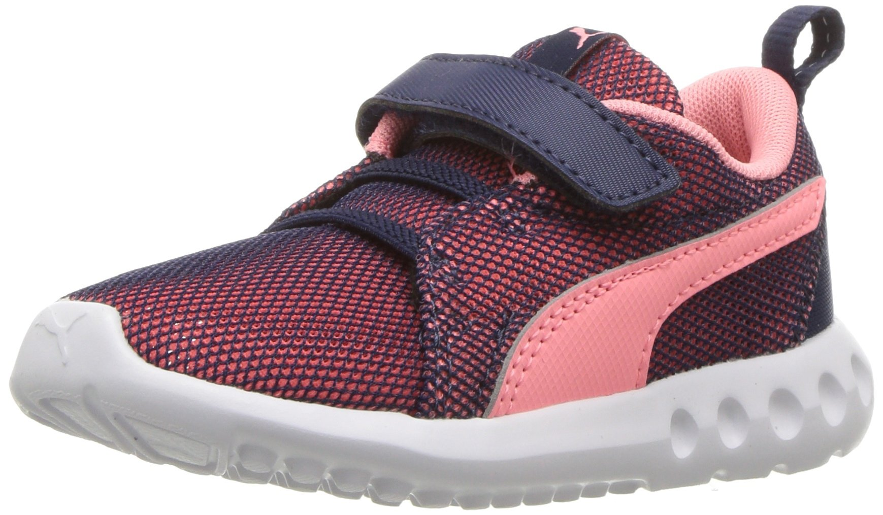 PUMA Baby Carson 2 Breathe Velcro Kids Sneaker, Peacoat-Soft Fluo Peach, 6 M US Toddler