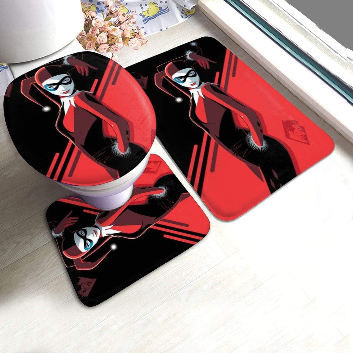 Amazon.com: Harley Quinn Bath Mat 10 Piece Set?Bathroom Carpet Set