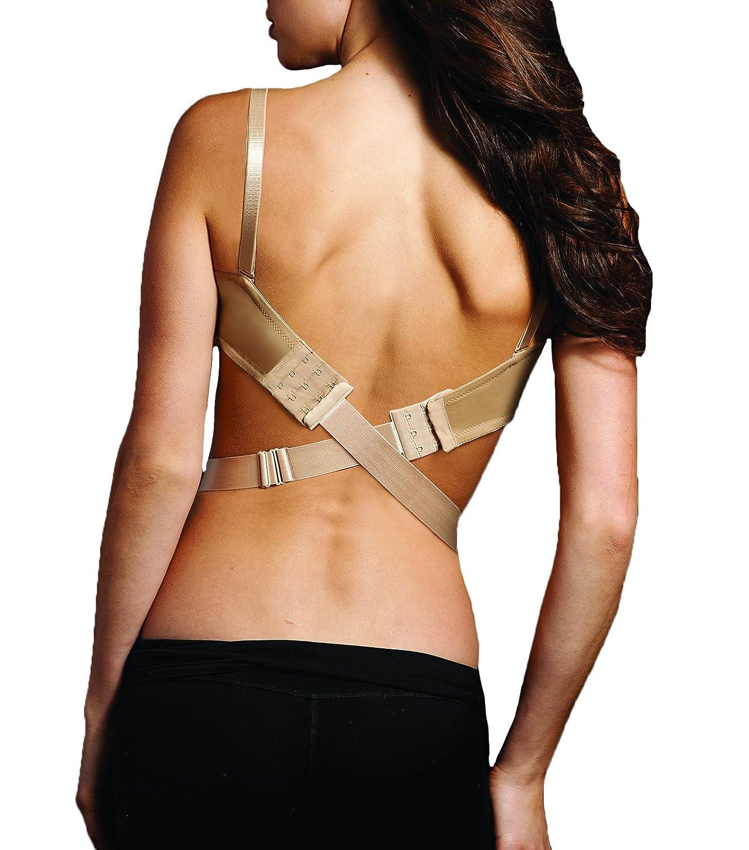 Maidenform Women's Wide Low Back Converter 1 inch (25mm) Bra Extenders Beige (Nude) One Size M4002