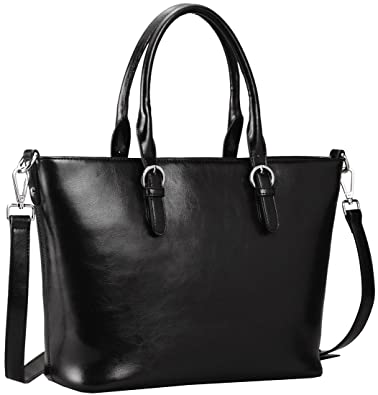 Amazon.com  Heshe Womens Handbag Leather Shoulder Cross Body Tote Bags  Satchel Handbags and Purses for ladies (Black)  Shoes c554576898c43