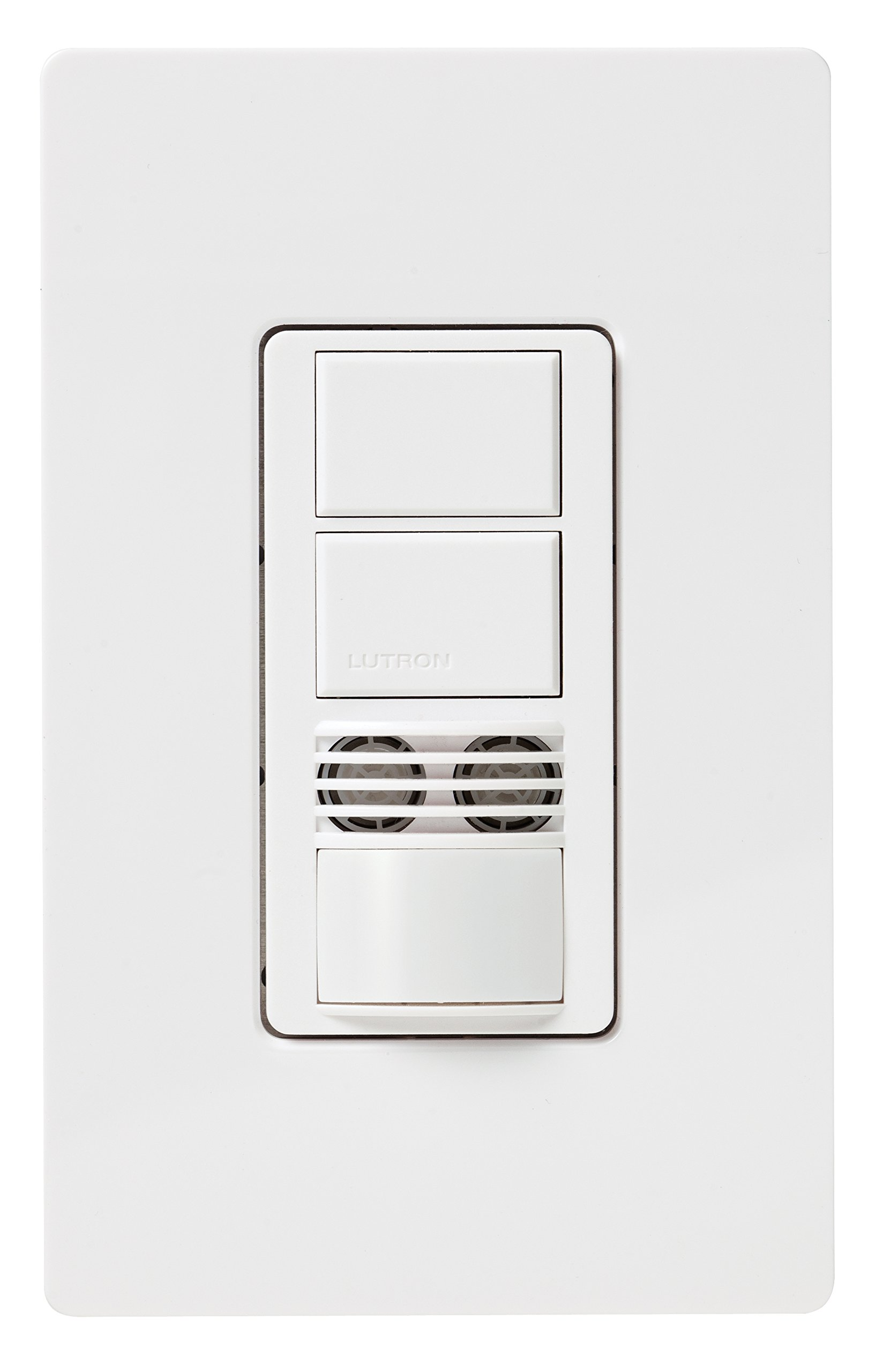 Lutron MS-A202-WH Maestro Dual Tech Dual Circuit Occupancy Sensor Switch, no neutral required, 6 Amp Single-Pole, White by Lutron (Image #2)