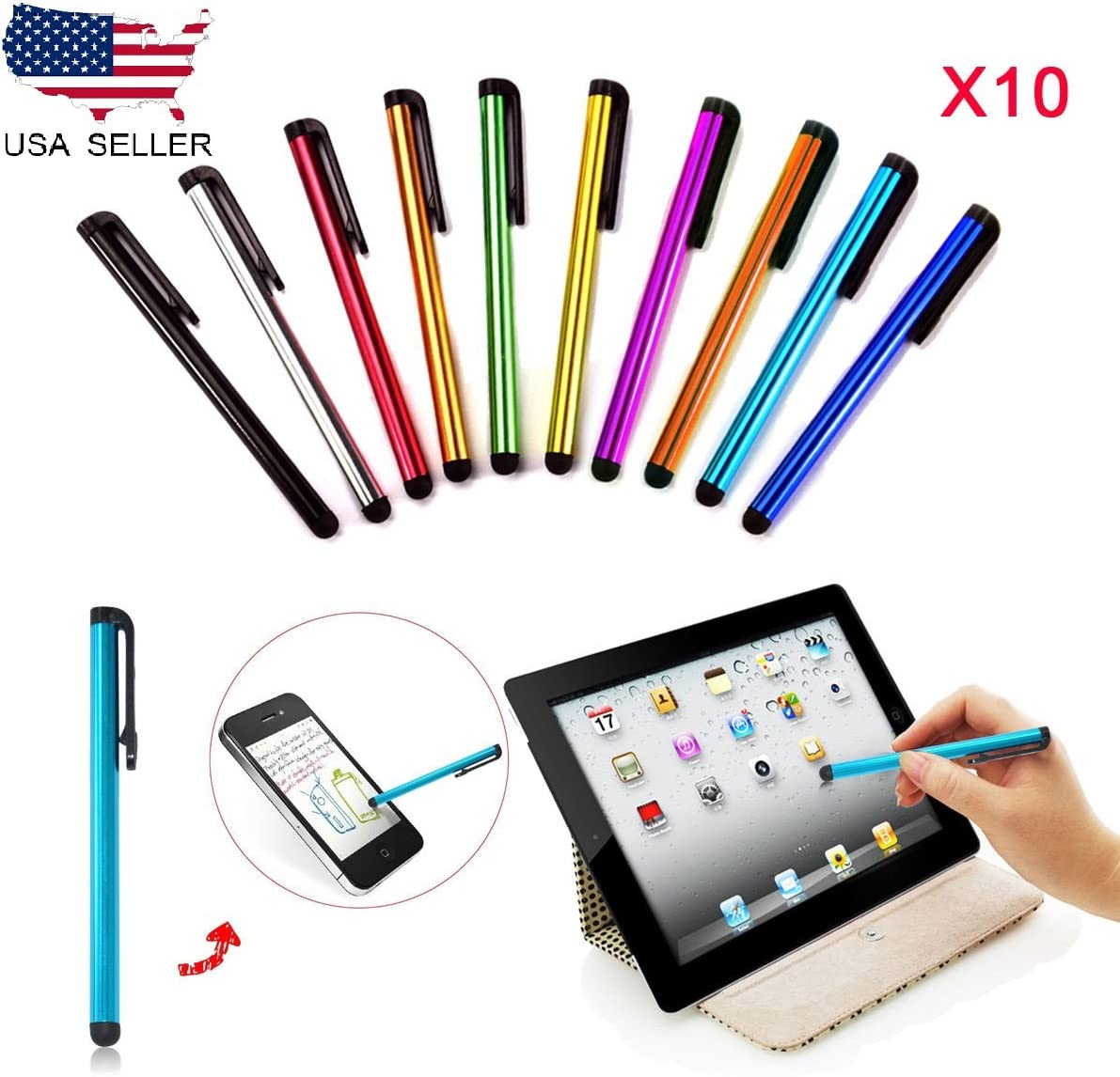 10x Sensitive Touch Screen Pen Stylus Universal Fr Tablet iPhone iPad Samsung PC