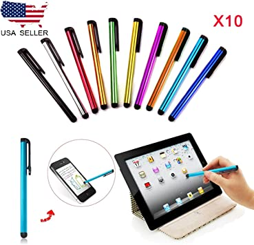 10x-Multi-Color-Universal-Stylus-Touch-Screen-Pen-for-Tablet-Phone-iPod-iPad-PC