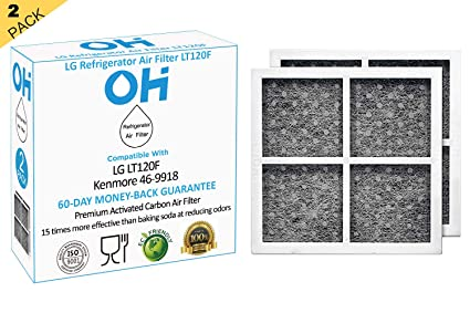 b8d901ab47127 OH lt120f Refrigerator Air Filter Replacement Compatible for LG Fridge  Lt120f air Filters, Also fit Kenmore 469918, ADQ73214402, ADQ73214404, ...
