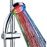 SunJas Doccia LED Luminosa a LED 7 colori LED Shower Doccetta Soffione