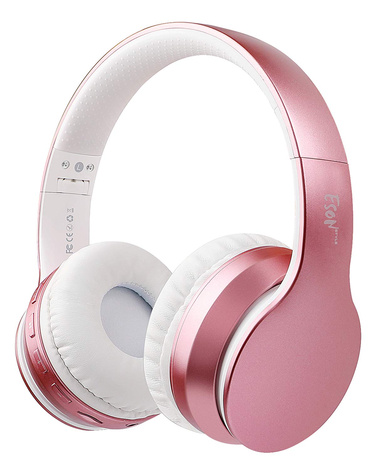 Esonstyle Rose Golden Over-ear Bluetooth Headphones