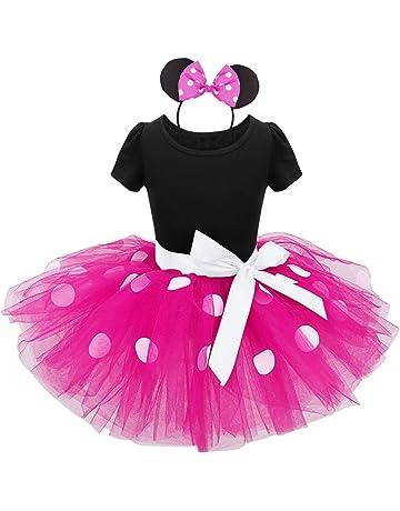 2421904e423bc YiZYiF Bébé Fille Déguisement Princesse Robe à Pois Justaucorps Danse  Ballet Tutu et Serre-tête