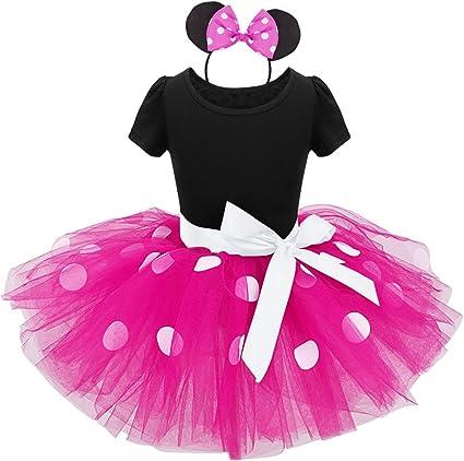 IEFIEL Vestido Maillot de Ballet Danza para Niña Disfraz Bailarina ...