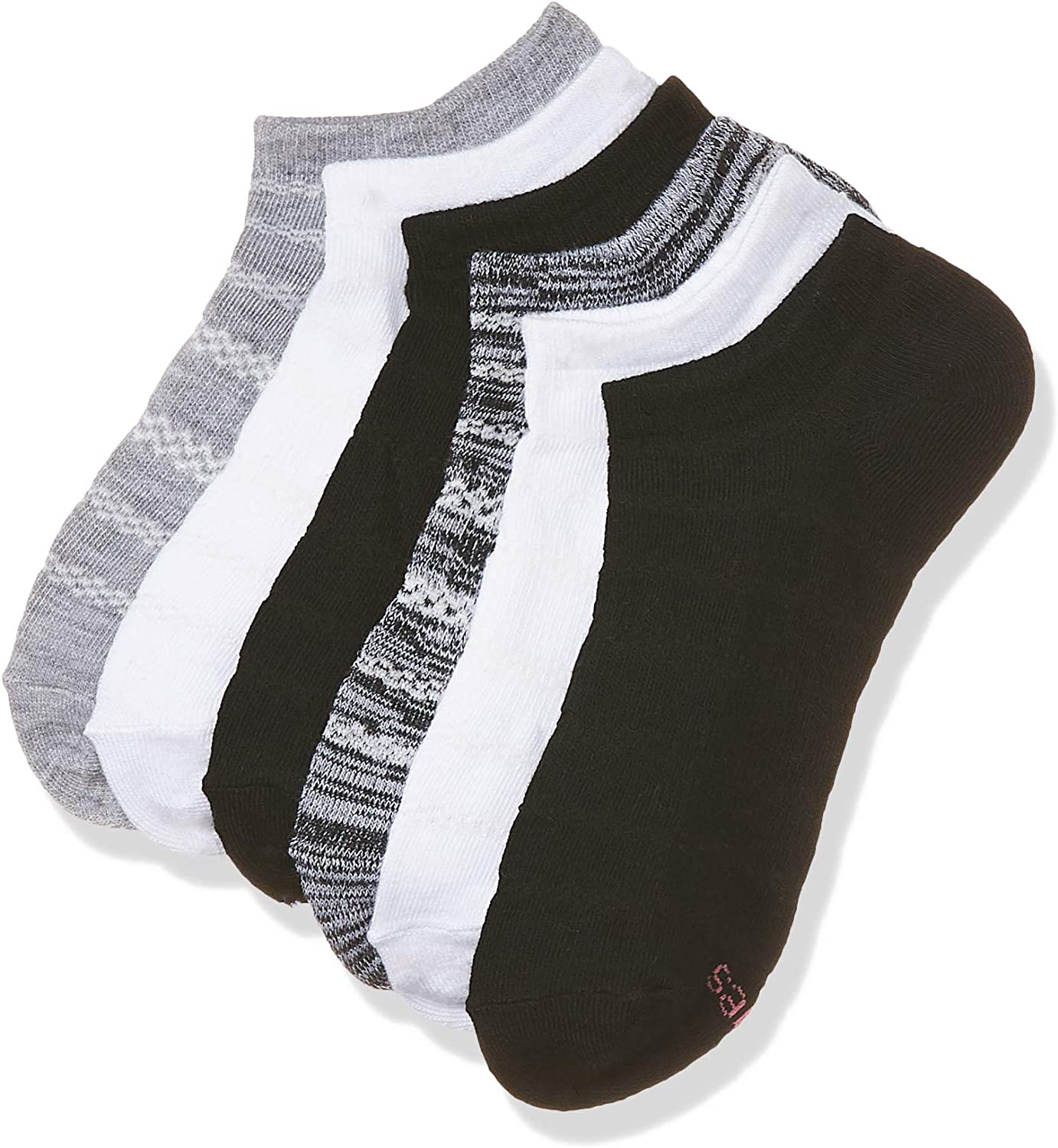Hanes womens Lightweight Breathable Super No Show Socks 6 Pair Pack