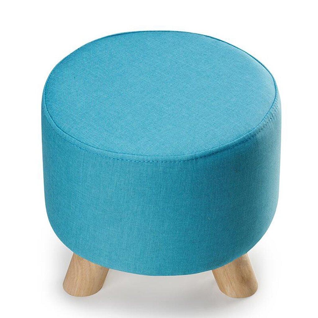 compra limitada Silla Rollsnownow El El El Taburete Redondo Azul Tres del Agua Puede lavarse y lavarse Cambiar el Taburete del sofá del paño del Taburete del Zapato  tienda en linea