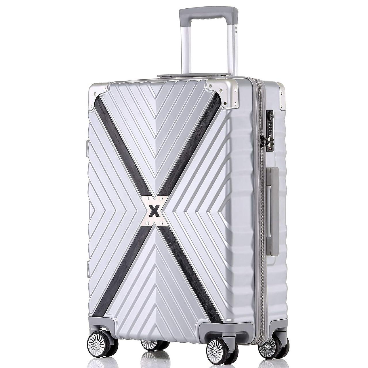 否定する欠陥空虚【XDJ Life】 スーツケース アルミマグネシウム合金 キャリーバッグ ダブルキャスター?静音 キャリーケース TSAロック搭載 フレームタイプ ドイツ製カバー付き 軽量 機内持込