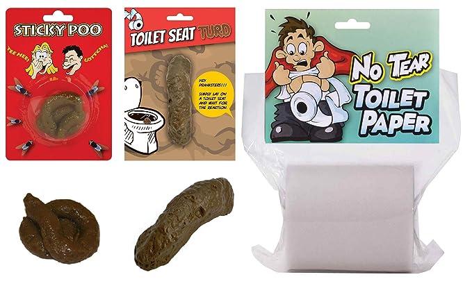 Astounding Amazon Com Fake Poo No Tear Toilet Paper Gift Set Secret Beatyapartments Chair Design Images Beatyapartmentscom