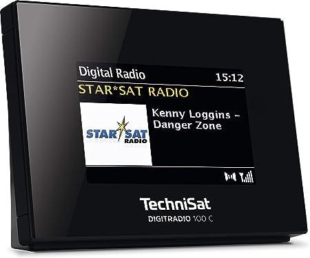 Technisat Digitradio 100 C Dab Radio Adapter Mit Bluetooth Dab Ukw Empfangsteil Zur Erweiterung Von Hifi Anlagen Und Av Receivern Farbdisplay Iec Buchse Anschlusskabel Wecker Schwarz Audio Hifi