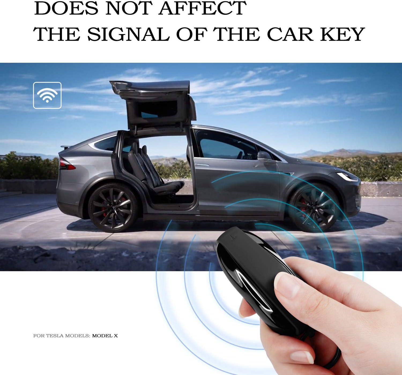Schwarz, Modell 3 OLAIKE Key Fob Cover f/ür Tesla Model 3 Hochwertige Silikon Auto Keychain Key Cover Protector Case Halter mit Schl/üsselanh/änger Kette f/ür Tesla Model 3 Zubeh/ör