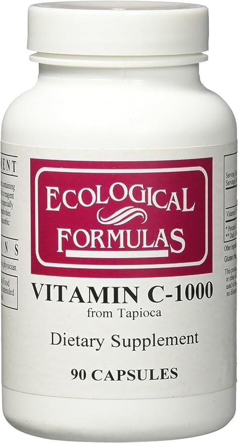 Ecological Formulas Vitamin C-1000 Capsule from Tapioca, 90 Count