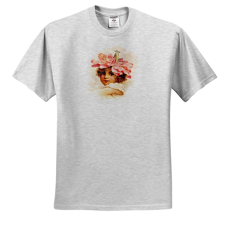 Flower Girl Carnation Flower Girls 3dRose VintageChest T-Shirts
