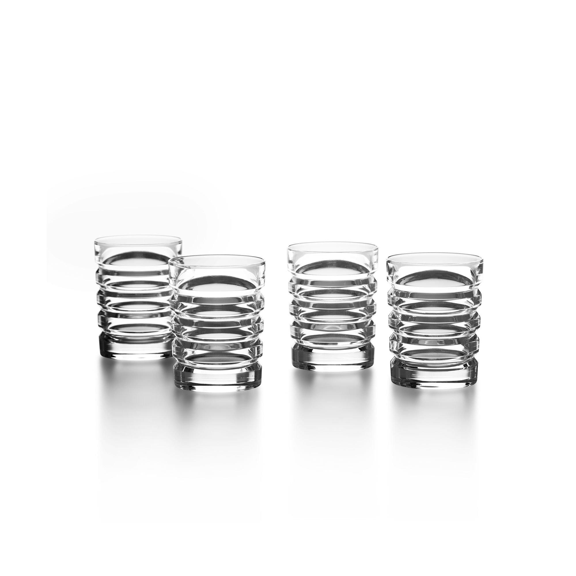 Ralph Lauren ''Metropolis'' Set of 4 Crystal Shot Glasses