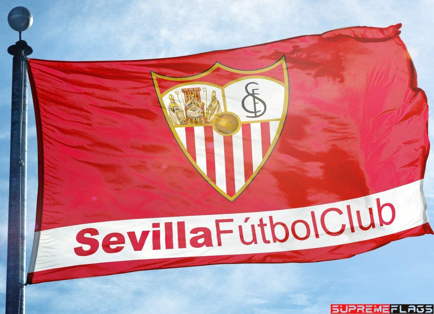 Bandera de Sevilla 3 x 5 pies España fútbol Sevilla FC La Liga ...