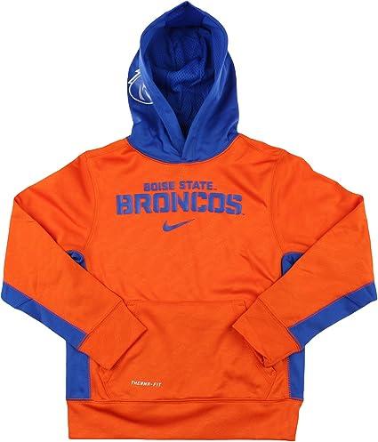 Nike NCAA Big Boys Youth Boise State Broncos ThermaFIT Pullover Hoodie, Orange