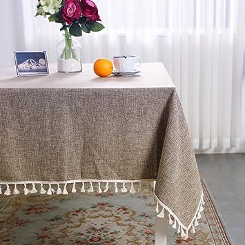 Charmant HOMEJYMADE Nappe De Couleur Unie Tassel,Couverture De Linge De Table Ronde  Coton Poids Lourds