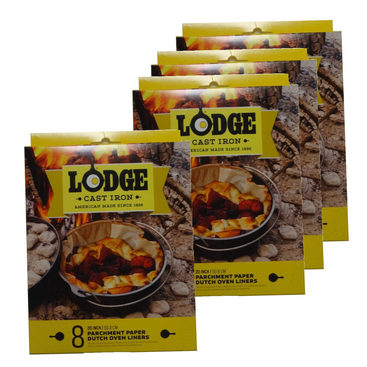 Lodge Parchment Paper 20 Inch Dutch Oven Liner, Set of 32 by Lodge