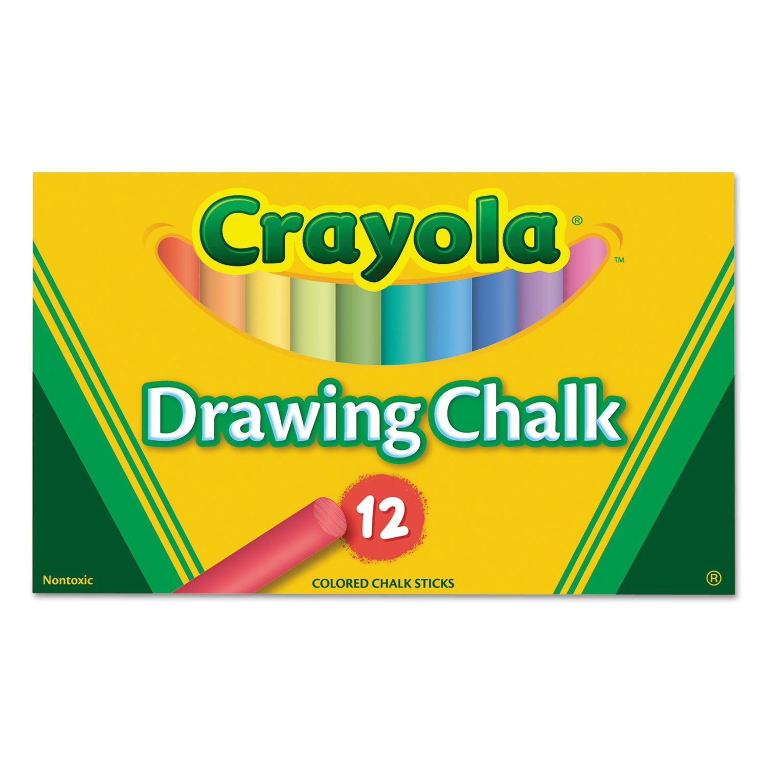 Colored Drawing Chalk, 12 Assorted Colors 12 Sticks/set Crayola