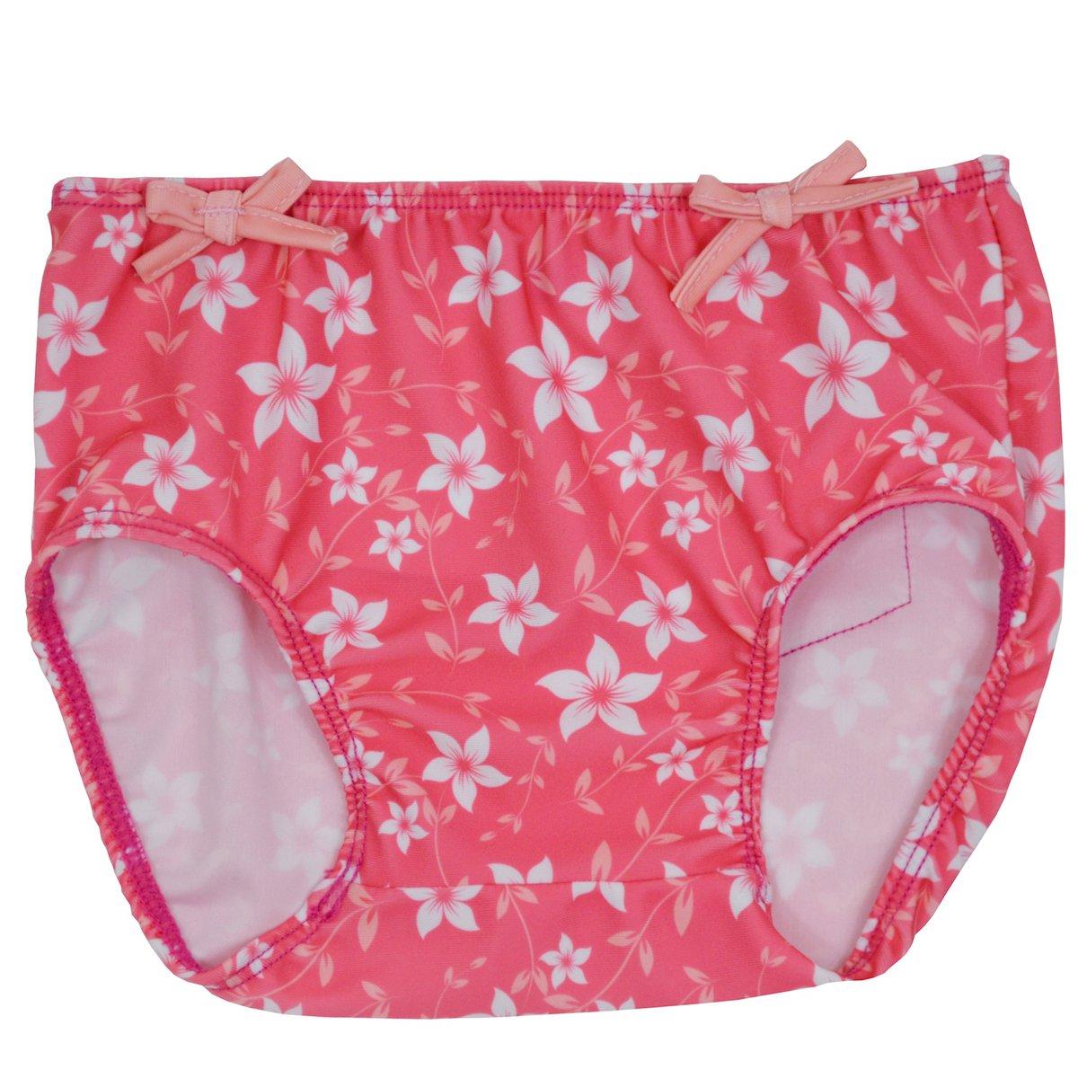Splash About RBPBS - Cubrepañales para niña, Color Rosa con diseño de Flores, 6-12 Meses