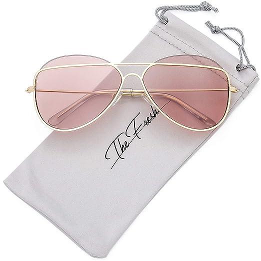 11304e5c46 The Fresh Metal Crossbar Fashion Color Tinted Flat Lens Stylish Sunglasses  with Gift Box (1