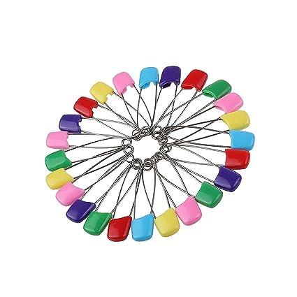 "Assorted Color 100 paquetes 2.2 ""bebé niño infantil Kids pañal bolsa para pañales imperdibles"